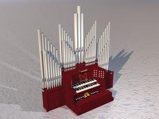 Pipe organ - 3D render