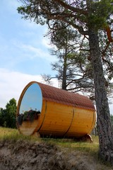 barrel house on dune