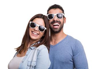 Portrait of a funny couple