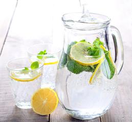 Lemon and mint fizz