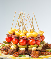 vegetable canape