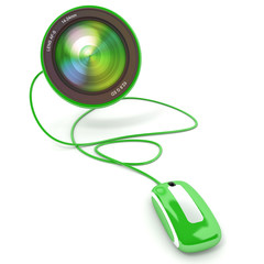 Online photo green