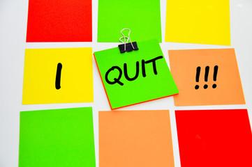 I quit decision