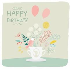 Birthday card, gift card