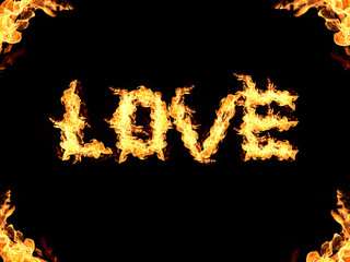 Love abstract flame