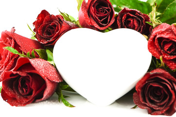 Red rose heart ,valentine love