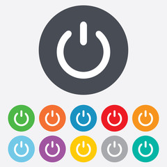 Power sign icon. Switch on symbol.