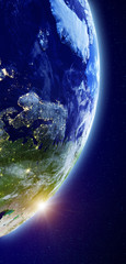 Europe from space background