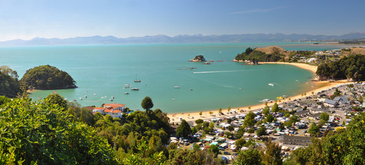 Kaiteriteri Camp & Beach Panorama, New Zealand