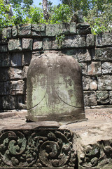 Temple Ruins Near Angkor Wat In Cambodia
