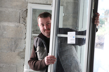 Manual worker holding window