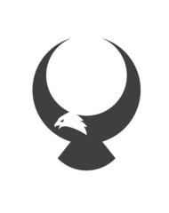 Stylized american eagle mascot