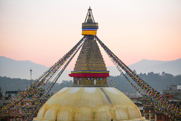 Bodhnath Stupa in the evening, Kathmandu.