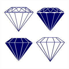 diamond symbols vector illustration