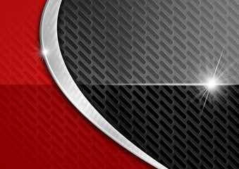 Red and Dark Metal Abstract Background