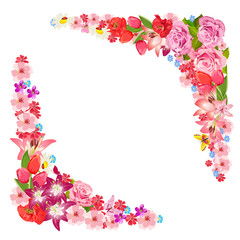 Frame of beauty floral for you design