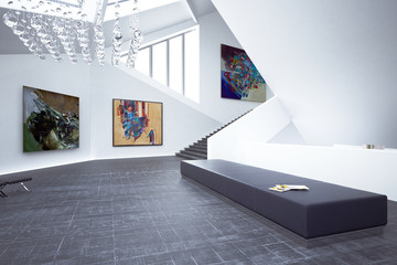 Inside a Art Gallery