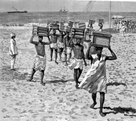 Fototapeta Slavery - Esclaves - Sklaven - 19th century obraz