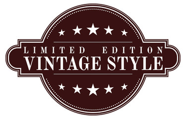 Vintage limited edition badge, retro designed