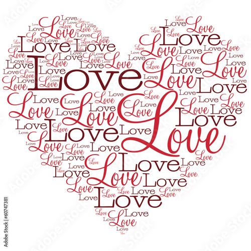Открытка сердце из слов 440