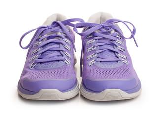 Purple female sport shoes