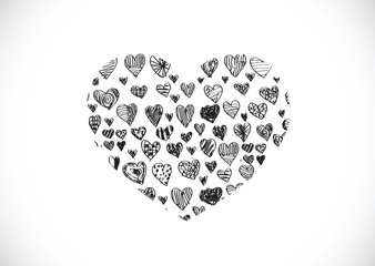 Design Heart for Valentines Day Background