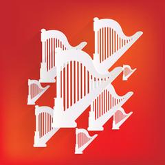 Harp icon. Msic instruments