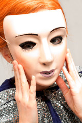 Maskengesicht - Verkleidung