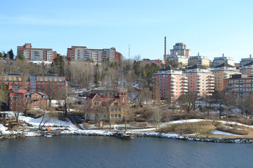 Residential area on the outskirts of Stockholm