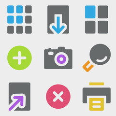 Image viewer web icons color icons