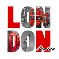 Fotorollo London roten bus London isolated on white