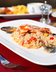 Classic risotto with the seafood