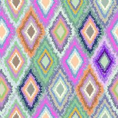 colorful geometric ikat seamless pattern