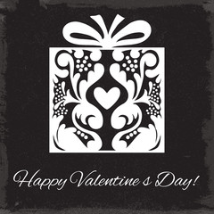Valentine's Day. Gift box ornament. Vector illustration/ EPS 10