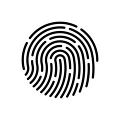 Vector fingerprint. Vector Illustration