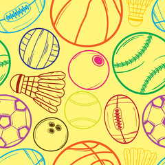 Sport balls pattern - #2