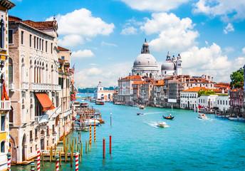Aluminium Prints Venice Grand Canal and Basilica Santa Maria della Salute, Venice, Italy