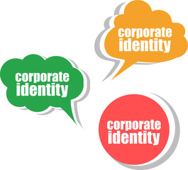 corporate identity. Set of stickers, labels, tags. Business