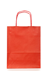 Red gift or shopping bag.