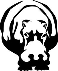 stylized hippopotamus