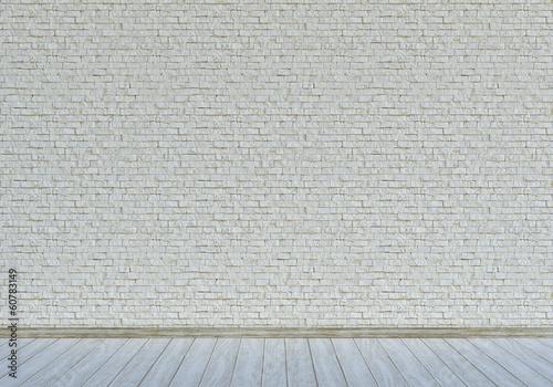 """Weiße Steinwand weiße steinwand mit hellem holzfußboden"""" stockfotos und lizenzfreie"""