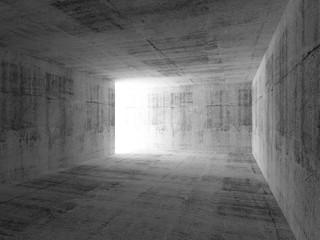 Abstract empty dark room interior with concrete walls
