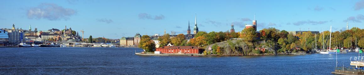 Panorama of Stockholm from Beckholmen island, Sweden