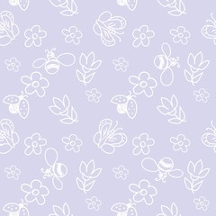 Baby  insects  seamless Pattern