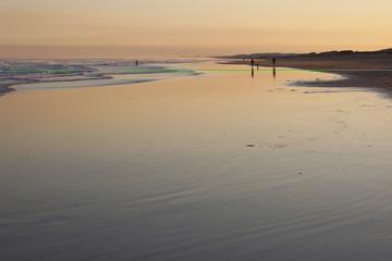 Sunset on Stockton Beach. Port Stephens. Anna Bay. Australia.