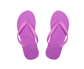 pink beach shoes isolated on white background