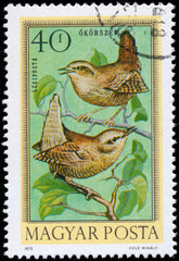 HUNGARY - CIRCA 1973: Postage stamp printed in Hungary showing W