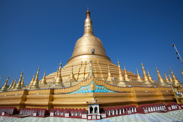 Shwemawdaw Paya with the blue sky