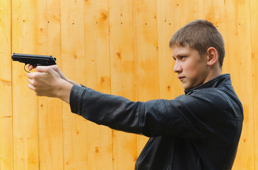 The teenager with a pistol