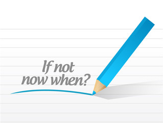 if not now when message illustration design